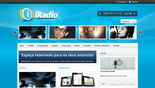 Site administrável para rádios - Exemplo 01
