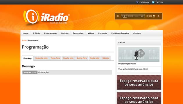 Site administrável para rádios - Exemplo 02