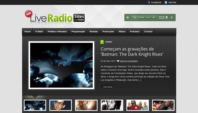 Site administrável para rádios - Exemplo 04