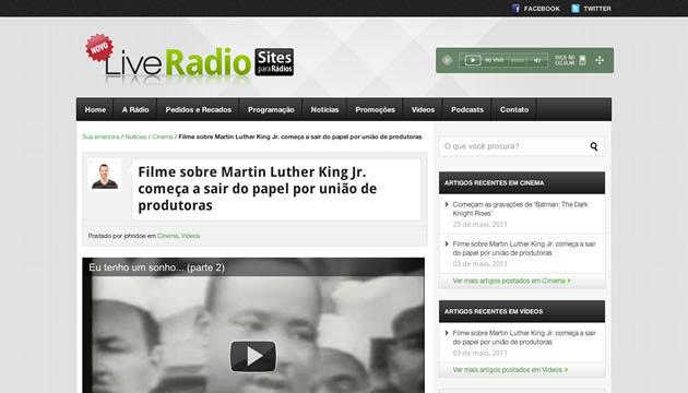 Site administrável para rádios - Exemplo 06